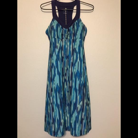 112fd1190a9 Prana Shauna Dress Blue Rainblur sz S